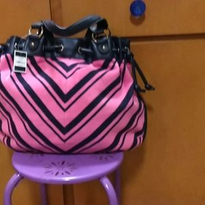 Pink and black  juicy couture purse